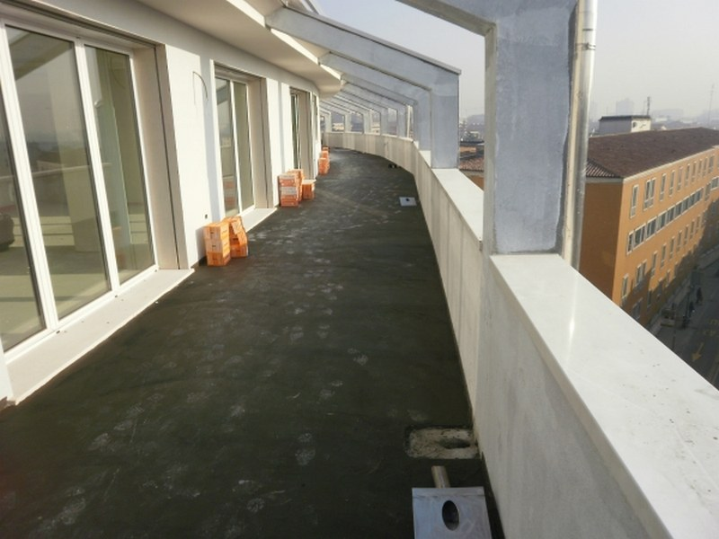 Gruppo Vannuzzo a Padova, impermeabilizzazioni cementizie di attico, logge e balconi