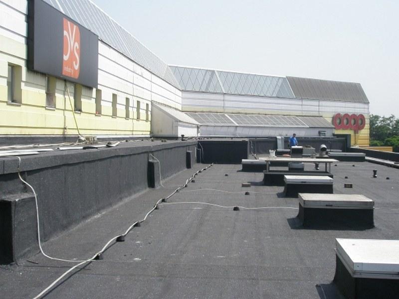 Centro Commerciale a Settimo Milanese, rifacimento coperture a vista