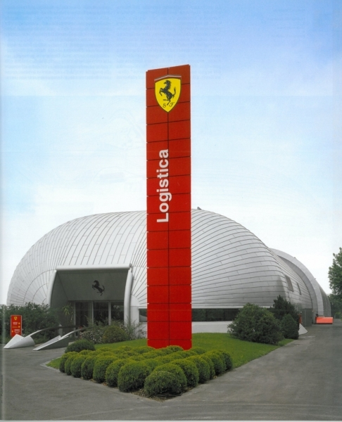 Ferrari a Fiorano, box e logistica della pista; impermeabilizzazione protetta con rivestimento
