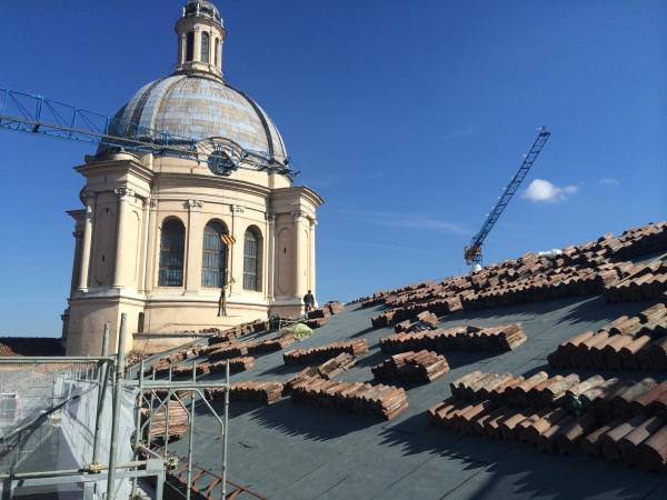 Basilica di Sant'Andrea, Mantova. Impermeabilizzazione della copertura di navata.