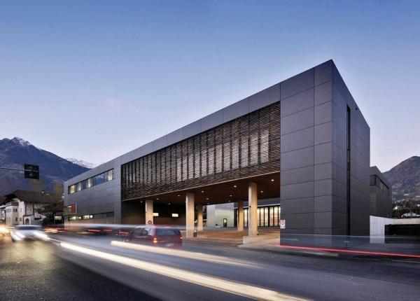 Centro Protezione Civile di Merano - tetto compatto con Foamglass e doppia guaina bituminosa