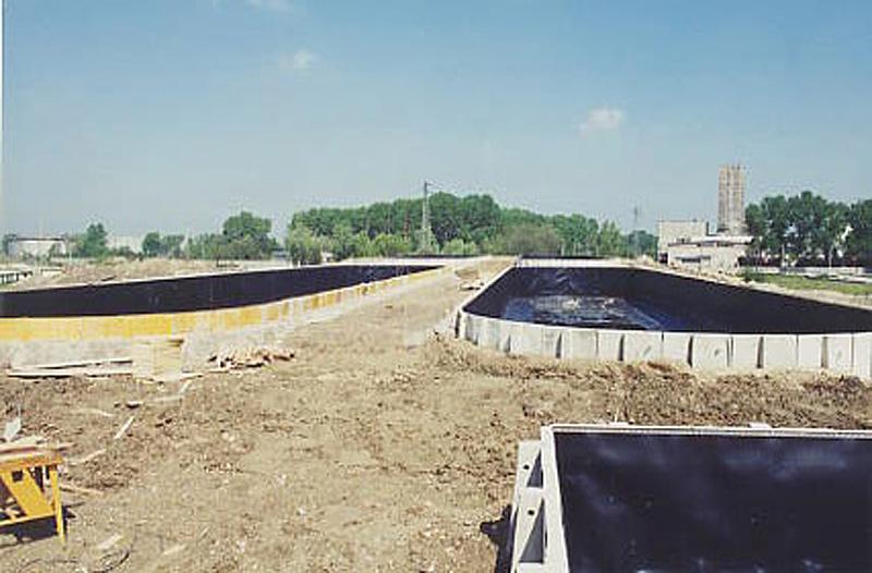 Vasche di raccolta fanghi a Marghera (VE)