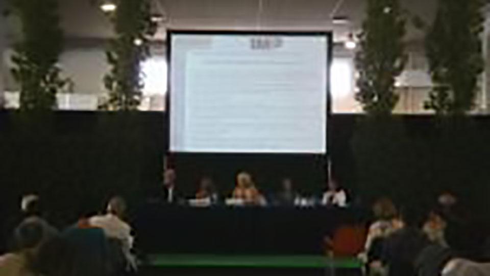 Relazione dell'amministratore di Acqua Risolta al convegno Echo-Tech Green al Flormart di Padova